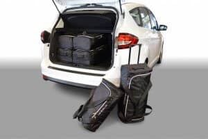 Ford C-Max (C344) MPV - 2010 en verder with 3rd row of seats folded down - Car-bags tassen F11001S