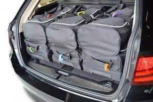 Car-Bags Bagage label set klittenband. 6 st. in verschillende kleuren