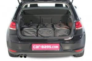 Volkswagen Golf VII (5G) 3d & 5d - 2012 en verder for 5 seater & for 7 seater with 3rd row of seats folded down - Car-bags tassen V11401S