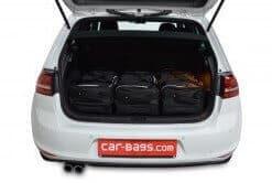 Volkswagen Golf VII GTE 5d - 2014 en verder with 3rd row of seats folded down - Car-bags tassen V11801S