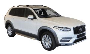 Zwarte Whispbar Dakdragers Volvo XC90 5dr SUV met Dakrails bouwjaar 2015 - e.v.|Complete set dakdragers