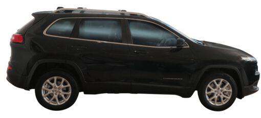 Whispbar Dakdragers (Zilver) Jeep Cherokee 5dr SUV met Dakrails bouwjaar 2014 - e.v.|Complete set Dakdragers