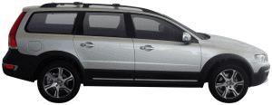 Whispbar Dakdragers Volvo XC70 5dr Estate met Dakrails bouwjaar 2013 - e.v. Complete set dakdragers