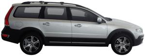 Zwarte Whispbar Dakdragers Volvo XC70 5dr Estate met Dakrails bouwjaar 2013 - e.v.|Complete set dakdragers