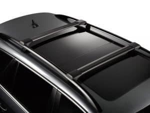 Whispbar Dakdragers (Black) Nissan Qashqai 5dr SUV met Dakrails bouwjaar 2017-e.v.|Complete set dakdragers