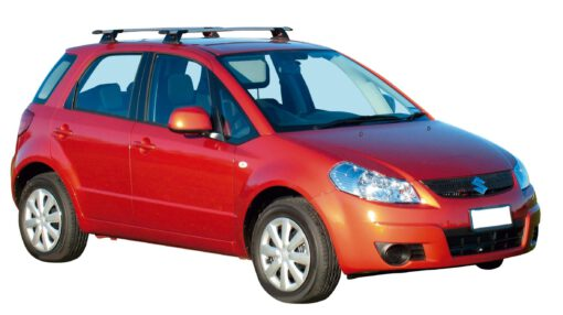 Whispbar Dakdragers Zilver Suzuki SX4 5dr Hatch met Vaste bevestigingspunten bouwjaar 2006-2010 Complete set dakdragers