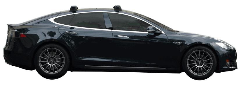 Whispbar Dakdragers (Silver) Tesla Model S 5dr Hatch met Vaste bevestigingspunten bouwjaar 2012 - 2015 Complete set dakdragers