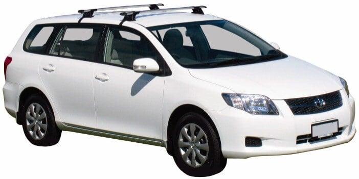 Whispbar Dakdragers Zilver Toyota Corolla Fielder 5dr Estate met Glad dak bouwjaar 2007-2012 Complete set dakdragers
