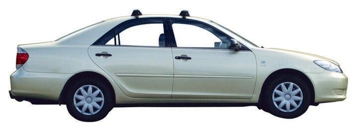 Whispbar Dakdragers Zilver Toyota Camry 4dr Sedan met Glad dak bouwjaar 2002-2006 Complete set dakdragers