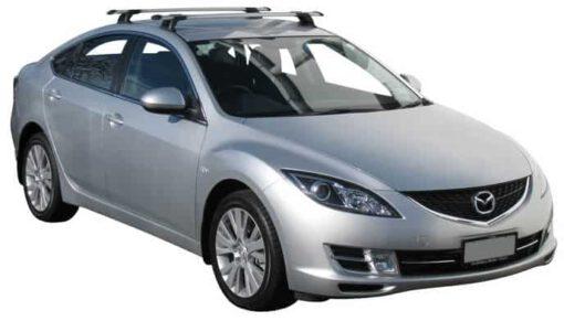 Whispbar Dakdragers Zilver Mazda 6 5dr Liftback met Vaste bevestigingspunten bouwjaar 2007-2012 Complete set dakdragers