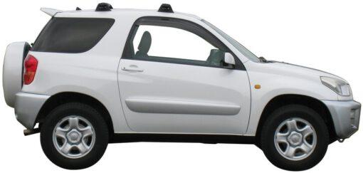 Whispbar Dakdragers Zilver Toyota Rav 4 3dr SUV met Vaste bevestigingspunten bouwjaar 2000-2006 Complete set dakdragers