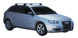 Whispbar Dakdragers Zilver Audi A3/S3/RS3 Sportback 5dr Hatch met Geintegreerde dakrails bouwjaar 2004-2012 Complete set dakdragers