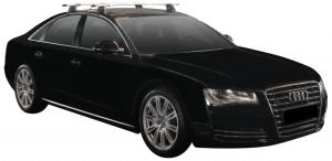 Whispbar Dakdragers Zilver Audi A8/S8 Limousine 4dr Sedan met Glad dak bouwjaar 2010-2017 Complete set dakdragers