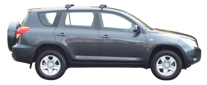 Whispbar Dakdragers Zilver Toyota Rav 4  5dr SUV met Glad dak bouwjaar 2005-2012 Complete set dakdragers