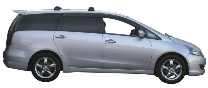Whispbar Dakdragers Zilver Mitsubishi Grandis  5dr MPV met Vaste bevestigingspunten bouwjaar 2003-2011 Complete set dakdragers