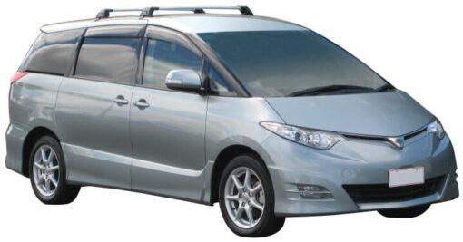 Whispbar Dakdragers Zilver Toyota Previa  5dr Sedan met Glad dak bouwjaar 2006-e.v. Complete set dakdragers