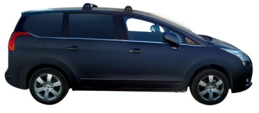 Whispbar Dakdragers Zilver Peugeot 5008  5dr MPV met Vaste bevestigingspunten bouwjaar 2009-2017 Complete set dakdragers