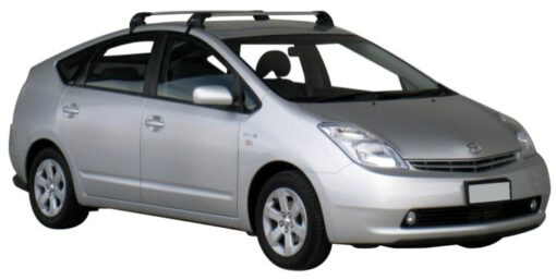 Whispbar Dakdragers Zilver Toyota Prius  5dr Hatch met Glad dak bouwjaar 2004-2009 Complete set dakdragers
