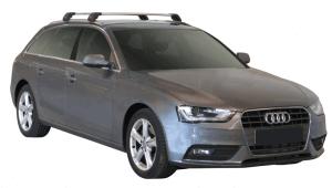 Whispbar Dakdragers Zilver Audi A4/S4/RS4 Avant 5dr Estate met Geintegreerde dakrails bouwjaar 2009-2015 Complete set dakdragers