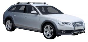 Whispbar Dakdragers Zilver Audi A4/S4/RS4 Allroad 5dr Estate met Dakrails bouwjaar 2009-2015 Complete set dakdragers
