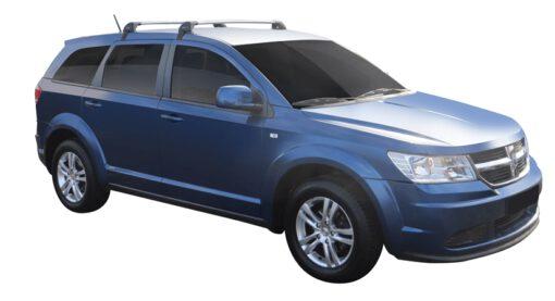 Whispbar Dakdragers Zilver Dodge Journey  5dr SUV met Glad dak bouwjaar 2008-2011 Complete set dakdragers