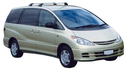 Whispbar Dakdragers Zilver Toyota Previa  5dr MPV met Vaste bevestigingspunten bouwjaar 2000-2006 Complete set dakdragers