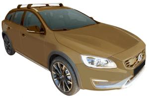 Whispbar Dakdragers (Black) Volvo V60 CC 5dr Estate met Geintegreerde rails bouwjaar 2015 - e.v. Complete set dakdragers