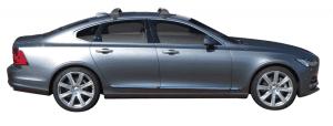 Whispbar Dakdragers (Black) Volvo S90 4dr Sedan met Glad dak bouwjaar 2016 - e.v. Complete set dakdragers