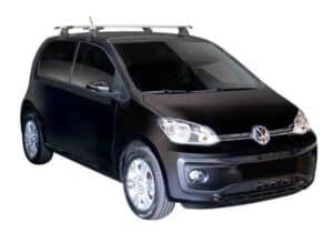 Whispbar Dakdragers (Black) Volkswagen up! 5dr Hatch met Glad dak bouwjaar 2016 - e.v. Complete set dakdragers