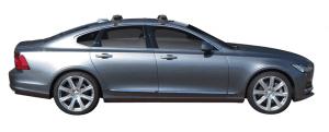 Whispbar Dakdragers (Black) Volvo S90 4dr Sedan met Glad dak bouwjaar 2016 - e.v.|Complete set dakdragers
