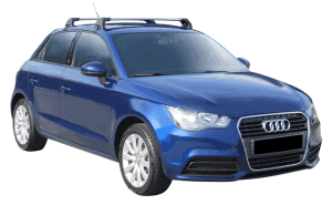 Whispbar Dakdragers (Zilver) Audi A1/S1 Sportback 5dr Hatch met Glad dak bouwjaar 2012 - e.v.|Complete set dakdragers