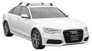 Whispbar Dakdragers (Zilver) Audi A6/S6/RS6 Limousine 4dr Sedan met Glad dak bouwjaar 2011 - e.v.|Complete set dakdragers