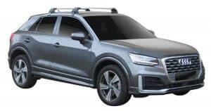 Whispbar Dakdragers (Zilver) Audi Q2 5dr SUV met Glad dak bouwjaar 2016 - e.v.|Complete set dakdragers