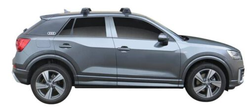 Whispbar Dakdragers (Zilver) Audi Q2 5dr SUV met Glad dak bouwjaar 2016 - e.v. Complete set dakdragers
