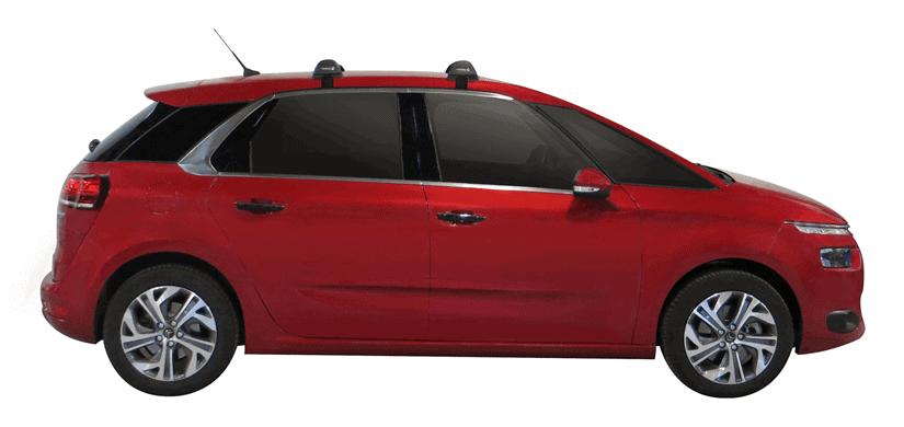 Whispbar Dakdragers (Zilver) Citroen C4 Picasso 5dr MPV met Glad dak bouwjaar 2016 - e.v.|Complete set dakdragers