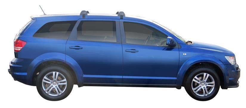 Whispbar Dakdragers (Zilver) Fiat Freemont 5dr SUV met Glad dak bouwjaar 2012 - e.v. Complete set dakdragers