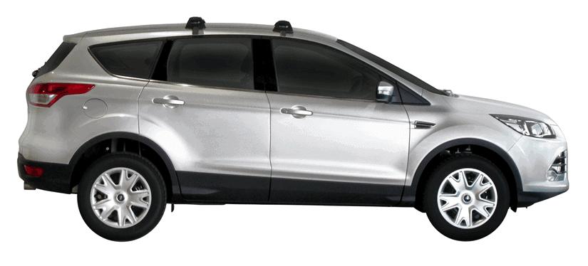 Whispbar Dakdragers (Zilver) Ford Kuga 5dr SUV met Glad dak bouwjaar 2013 - e.v.|Complete set dakdragers