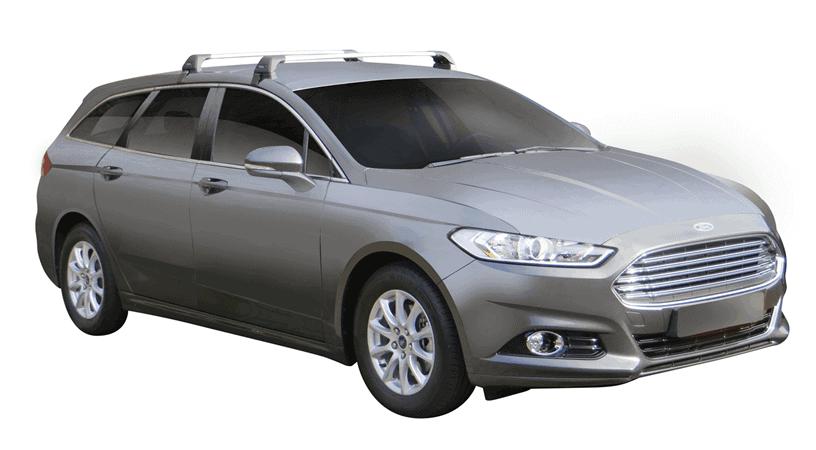 Whispbar Dakdragers (Zilver) Ford Mondeo 5dr Estate met Glad dak bouwjaar 2014 - e.v.|Complete set dakdragers