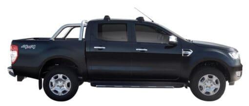 Whispbar Dakdragers (Zilver) Ford Ranger Double Cab 4dr Ute met Glad dak bouwjaar 2015 - e.v. Complete set dakdragers