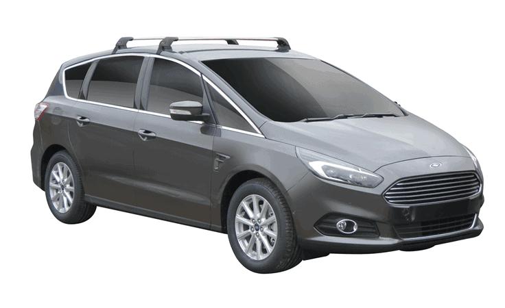 Whispbar Dakdragers (Zilver) Ford S-Max 5dr MPV met Glad dak bouwjaar 2015 - e.v.|Complete set dakdragers