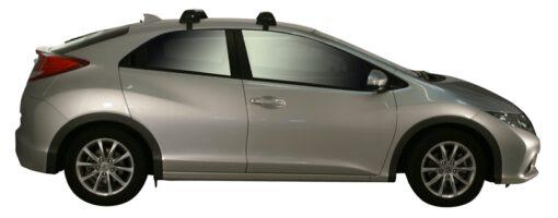 Whispbar Dakdragers (Zilver) Honda Civic 5dr Hatch met Glad dak bouwjaar 2012 - 2017 Complete set dakdragers