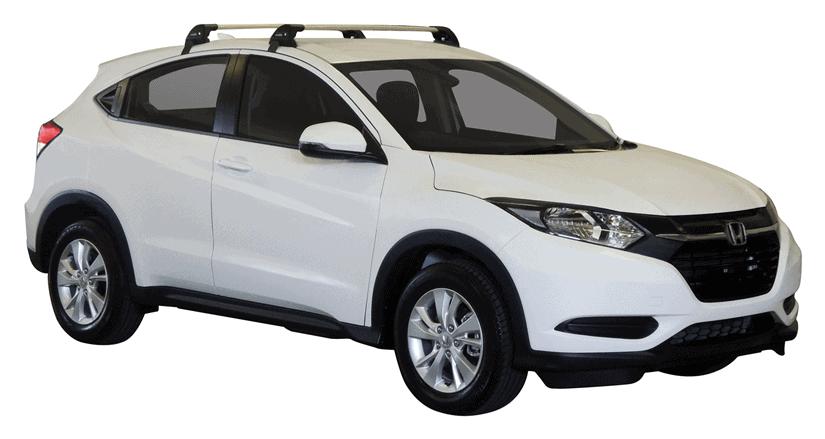 Whispbar Dakdragers (Zilver) Honda HR-V 5dr SUV met Glad dak bouwjaar 2015 - e.v.|Complete set dakdragers