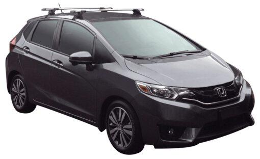 Whispbar Dakdragers (Zilver) Honda Jazz 5dr Hatch met Glad dak bouwjaar 2015 - e.v.|Complete set dakdragers