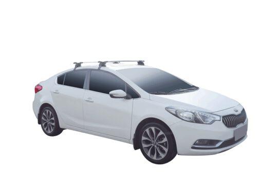 Whispbar Dakdragers (Zilver) Kia Cerato 4dr Sedan met Glad dak bouwjaar 2013 - 2016|Complete set dakdragers