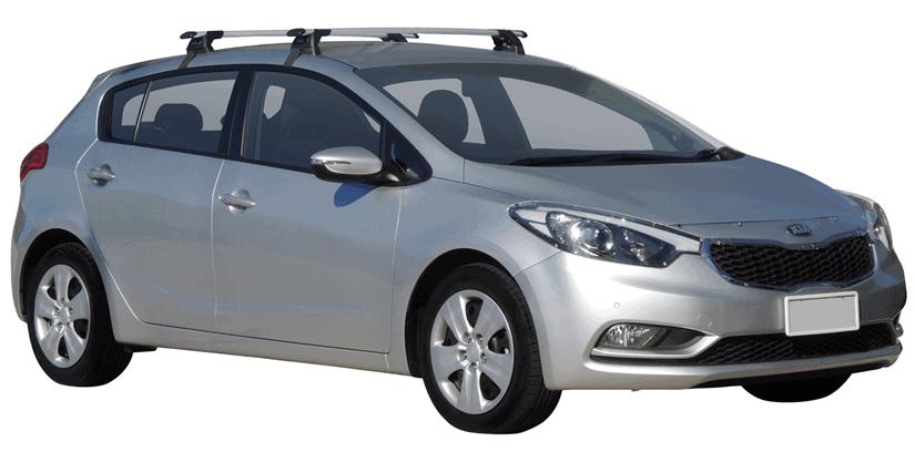 Whispbar Dakdragers (Zilver) Kia Cerato 5dr Hatch met Glad dak bouwjaar 2013 - 2016|Complete set dakdragers