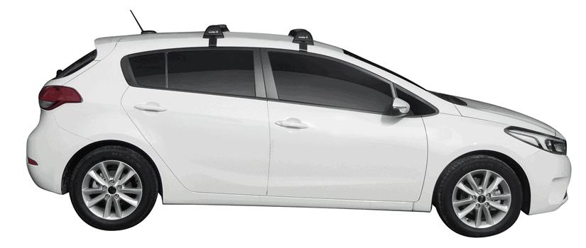 Whispbar Dakdragers (Zilver) Kia Cerato 5dr Hatch met Glad dak bouwjaar 2016 - e.v.|Complete set dakdragers