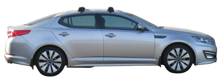 Whispbar Dakdragers (Zilver) Kia Optima 4dr Sedan met Glad dak bouwjaar 2011 - 2015 Complete set dakdragers