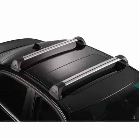 Whispbar Dakdragers Zilver Toyota Corolla  4dr Sedan met Glad dak bouwjaar 2002-2007 Complete set dakdragers