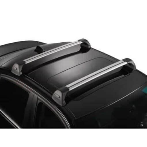 Whispbar Dakdragers Zilver Mitsubishi Lancer  4dr Sedan met Glad dak bouwjaar 2007-e.v. Complete set dakdragers