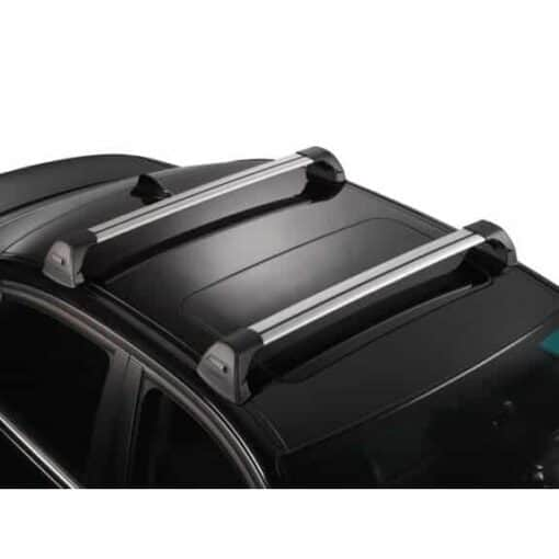 Whispbar Dakdragers Zilver Ford Fiesta  5dr Hatch met Glad dak bouwjaar 2002-2008 Complete set dakdragers